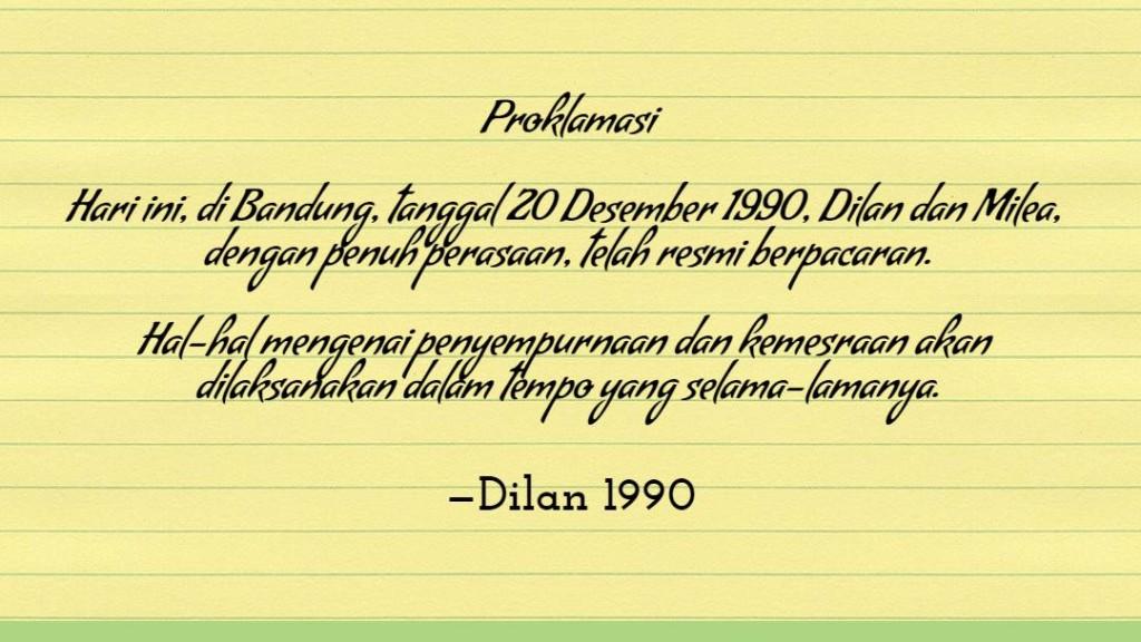 kalimat romantis Dilan