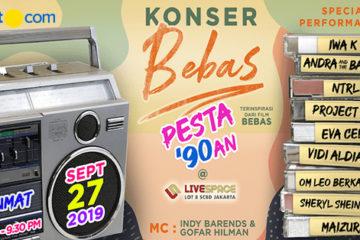 Poster Event Konser Bebas Pesta '90-an